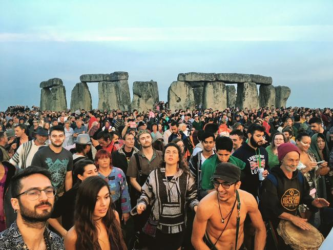 Down with the druids at Stonehenge. Picture: Julia D'Orazio
