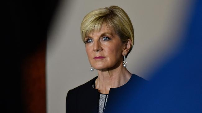 Foreign Minister Julie Bishop said Australia does not classify China as a threat to our security.