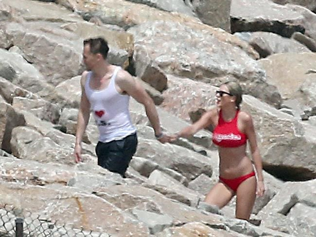 'Commitment-phobe' Tom famously wore an 'I Heart TS' T-shirt at Taylor's 4th of July party.