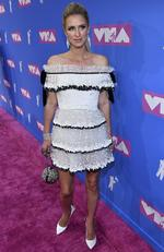 Nicky Hilton Rothschild arrives at the MTV Video Music Awards at Radio City Music Hall on Monday, Aug. 20, 2018, in New York. Picture: Charles Sykes/Invision/AP