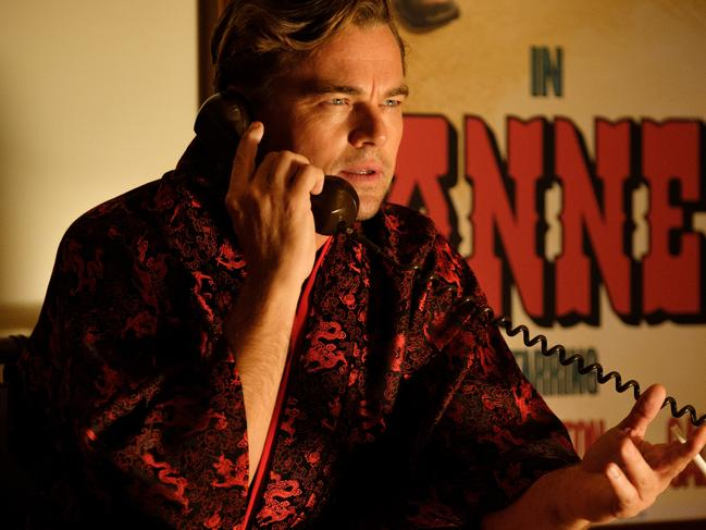 A much older Leonardo DiCaprio stars in Once Upon A Time in Hollywood.