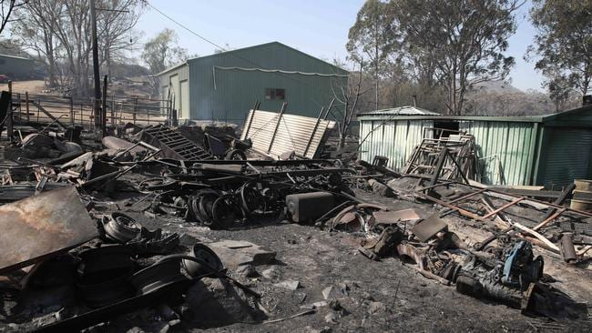 The Tenterfield blaze left a path of devastation and continues to burn. Picture: David Swift.