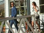 Pippa Middleton boarding sea plane with husband James Matthews at Cottage Point Inn on Cowan Creek in Sydney's north. Picture: Rohan Kelly