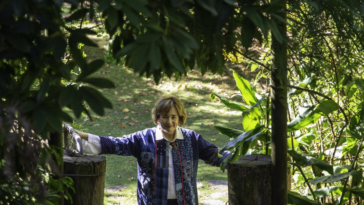 Australian author Jackie French in her garden.