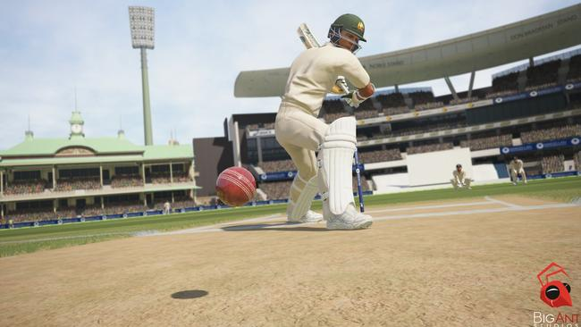 David Warner in action in Ashes Cricket.