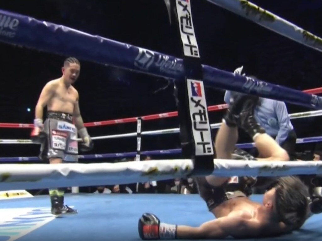 Tanaka's second knockdown was pretty spectacular.