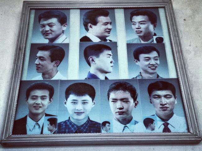 Example haircuts on display at a barbershop in #Pyongyang, 2013. Picture: David Guttenfelder/MOCP.ORG