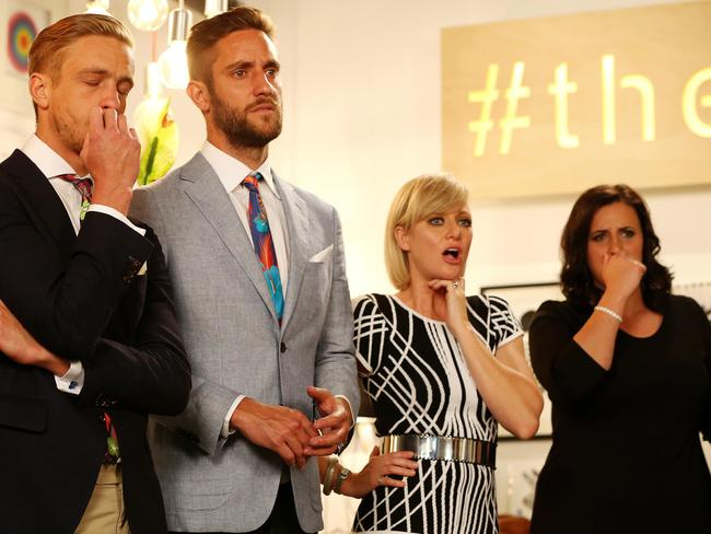 Simon, Shannon, Shelley and Jenna can't believe the low bidding. Picture: Mark Stewart