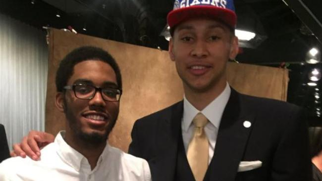 Number one NBA draft pick Ben Simmons with cousin Zachary.