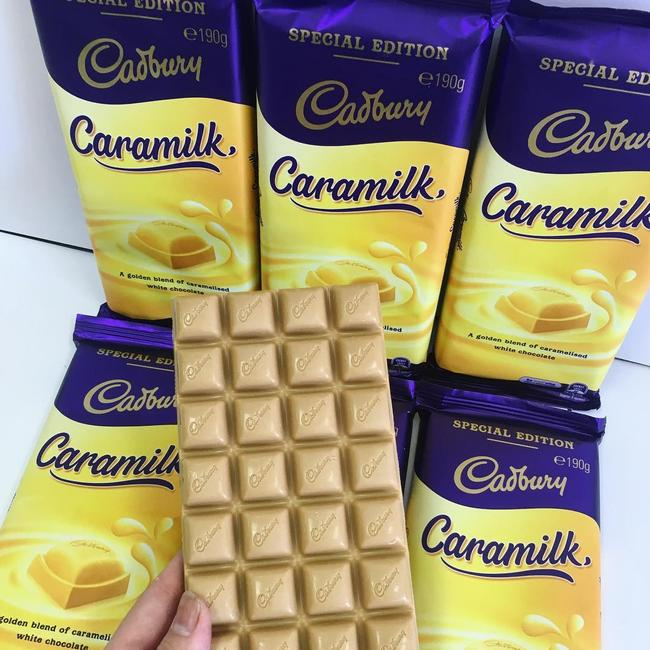 Australians are getting excited over the rumoured 'return' of Cadbury Caramilk. Picture: Instagram / Foodfindsgeelong