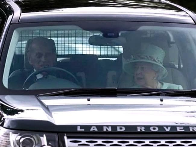Prince Philip driving Queen Elizabeth in 2017. Picture: Supplied