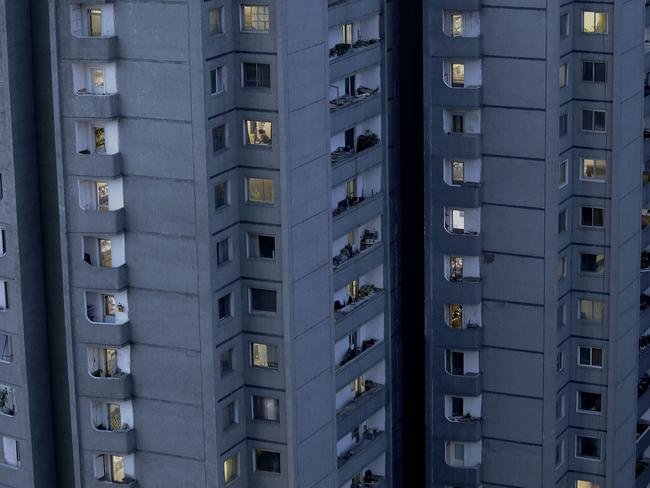 Many North Koreans live in apartments in the capital Pyongyang. Picture: AP Photo/Wong Maye-E.