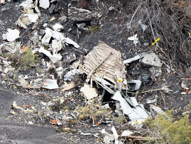 Investigators have recovered a black box from the wreckage but audio has given them no clues so far. Picture: F. Balsamo — Gendarmerie nationale / Ministere de l'Interieur via Getty Images.