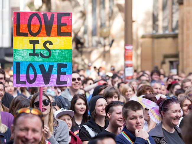 Business leaders from some of Australia's biggest companies are pushing for resolution to the same-sex marriage debate. Picture: AAP/Carol Cho