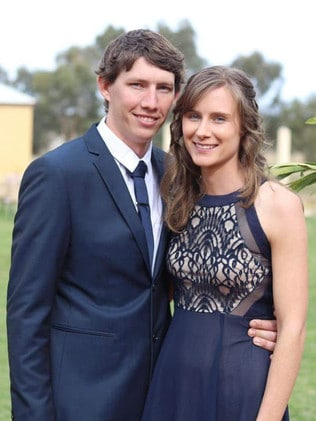 NSW RFS firefighter Samuel McPaul, who died on Monday, with his wife Megan. Picture: Facebook