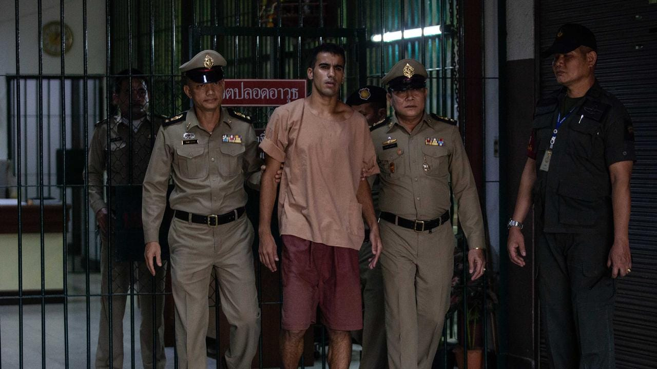 The departure of Hakeem al-Araibi, a refugee footballer, from Bangkok's Criminal Court