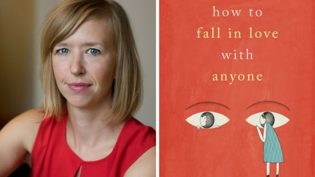 Mandy Len Catron and her book 'How To Fall In Love With Anyone'. Photo: Supplied
