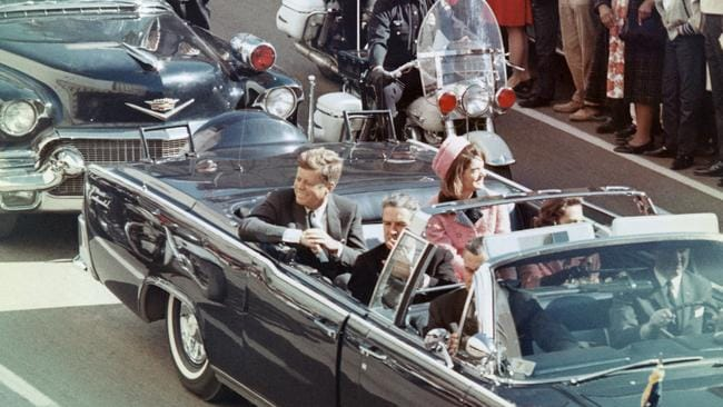 John F. Kennedy and his wife Jackie in Dallas, Texas minutes before the US President was fatally shot.