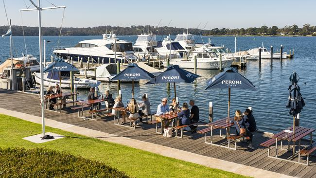 The waterfront views at Metung Hotel. Picture: Destination Gippsland