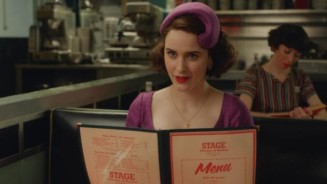 Rachel Brosnahan as Miriam 'Midge' Maisel in Amazon Prime Video comedy series, Marvelous Mrs Maisel. Picture: Supplied