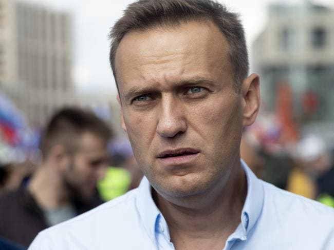 Russian Opposition Leader Alexei Navalny was arrested and then became seriously ill. Picture: AP Photo/Pavel Golovkin, File