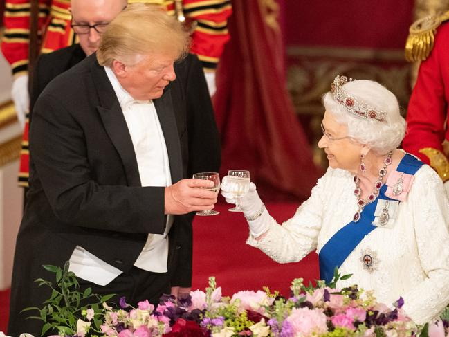 The Queen made a toast to the people of the US on Monday evening. Picture: Dominic Lipinski- WPA Pool/Getty Images.
