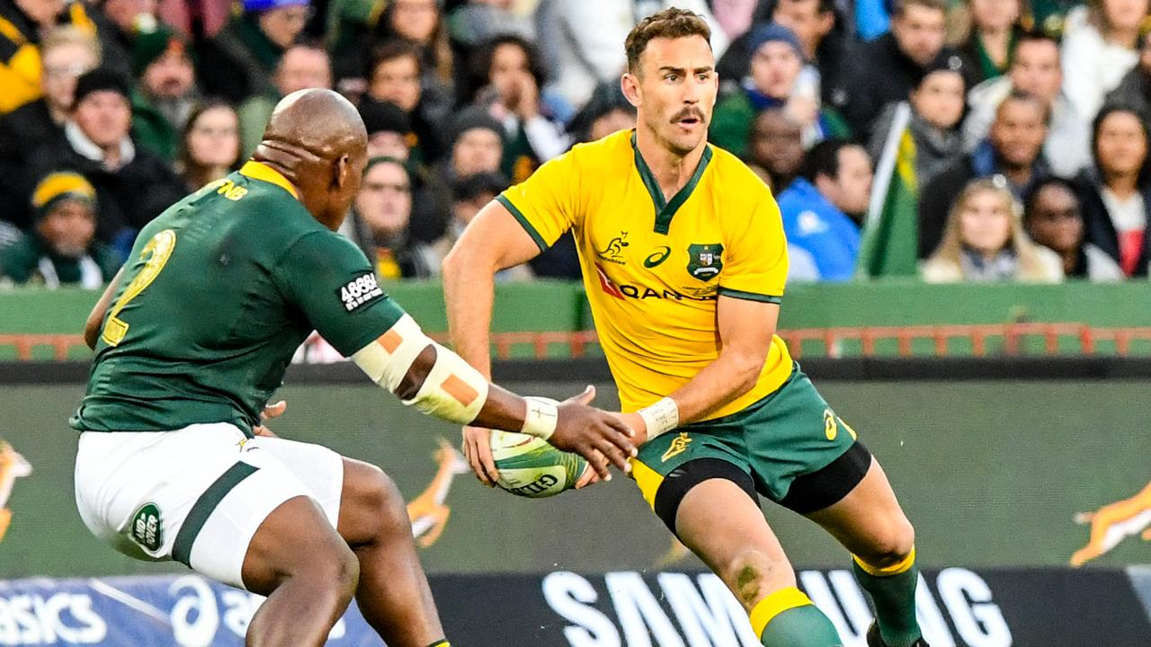 Nic White was one of the Wallabies' best during their loss to the Springboks at Ellis Park.