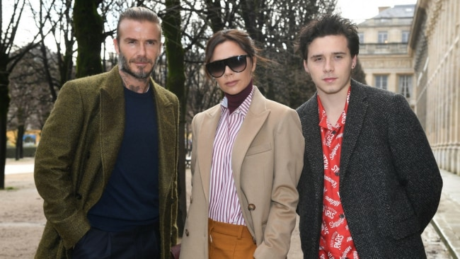 David and Victoria Beckham with their son Brooklyn. Photo: Getty