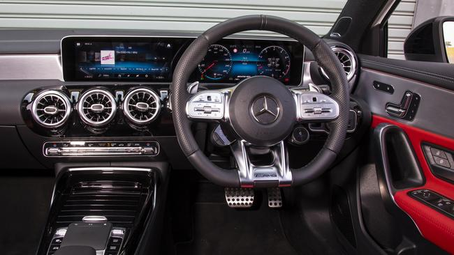 The A35 has Merc's classy and tech filled interior.