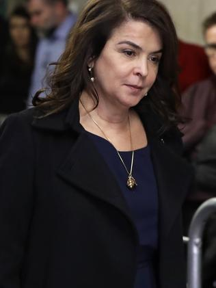 Annabella Sciorra also testified in the trial on January 23. Picture: Richard Drew/AP