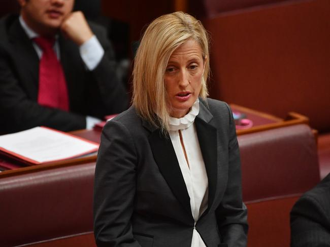 Labor Senator Katy Gallagher in the Senate chamber. Picture: AAP