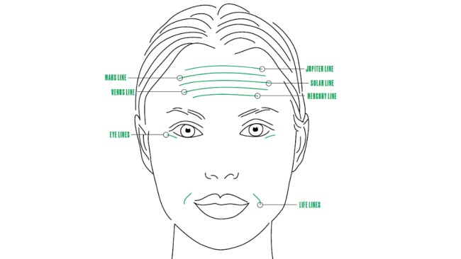 Follow this guide to read your face. Image: The Body Shop