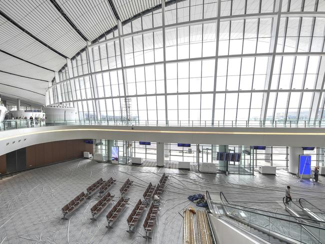 An interior view of the new airport. Picture: Imaginechina via AP