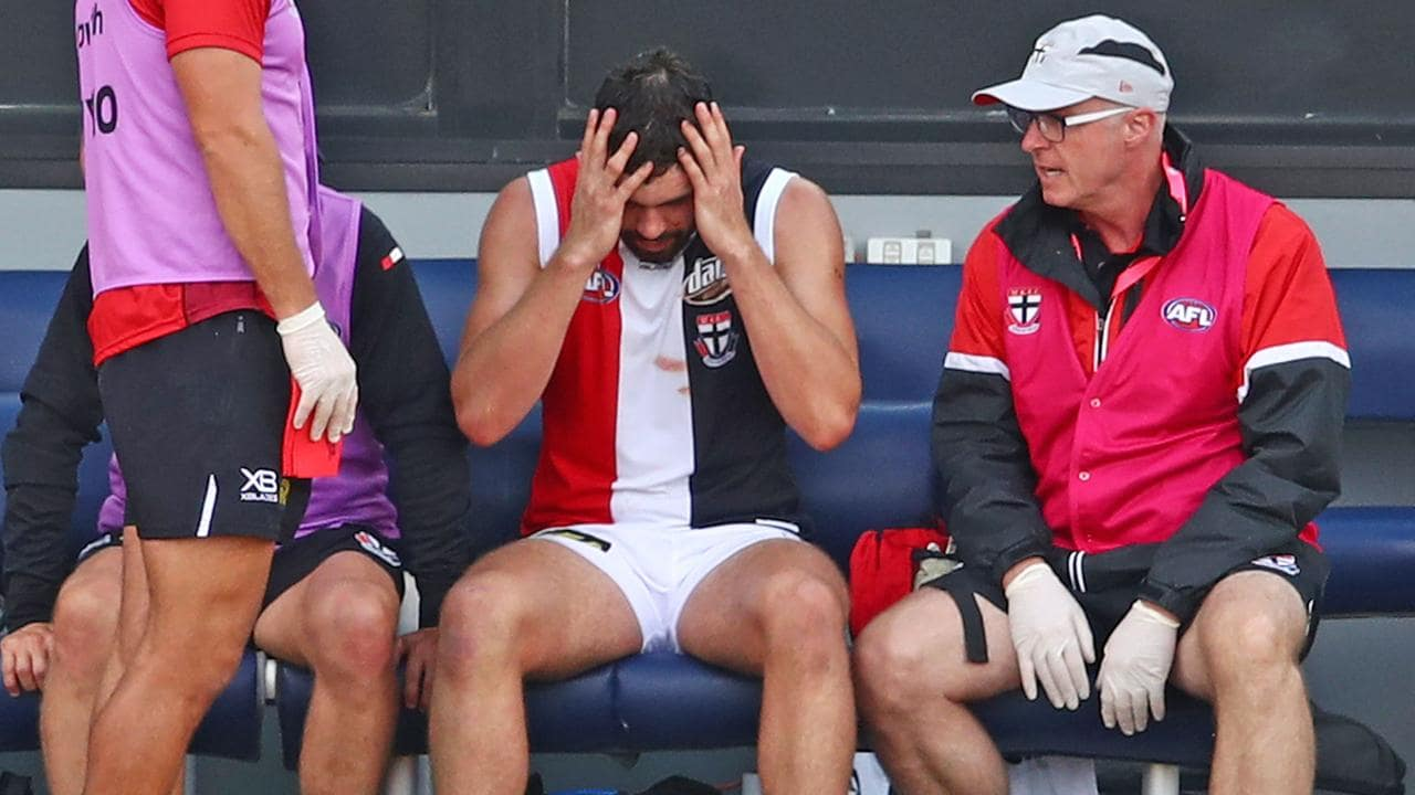 Saint Paddy McCartin suffered his eighth concussion in five seasons.