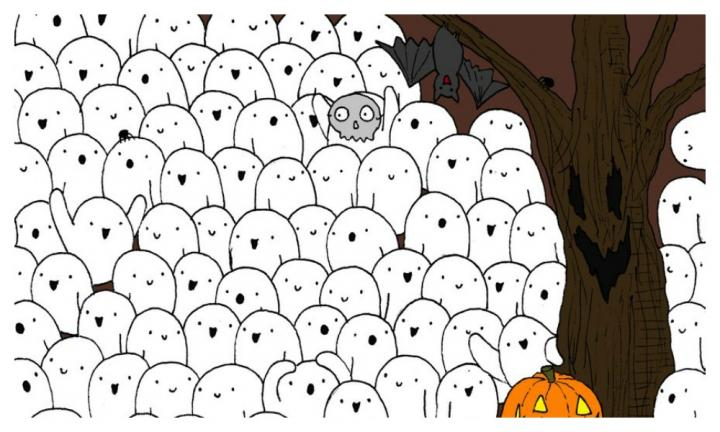 Can you find the polar bear among the ghosts?