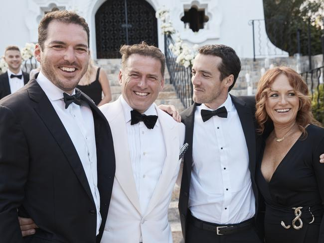 Peter Stefanovic, Karl Stefanovic, Tom Stefanovic and Elise Pointon. Picture: Instagram