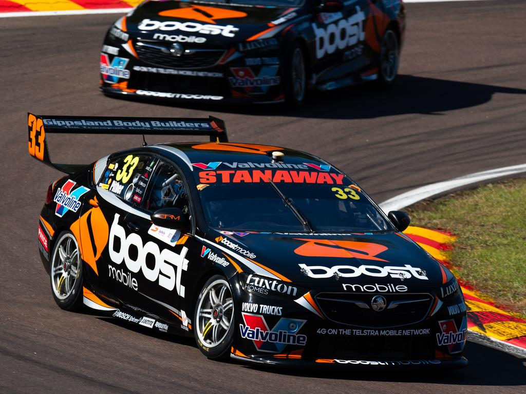 DARWIN, AUSTRALIA - JUNE 15: (EDITORS NOTE: A polarizing filter was used for this image.) Chris Pither drives the #33 Boost Mobile Racing Holden Commodore ZB during the Darwin Triple Crown round of the Supercars Championship at Hidden Valley Raceway at Hidden Valley Raceway on June 15, 2019 in Darwin, Australia. (Photo by Daniel Kalisz/Getty Images)