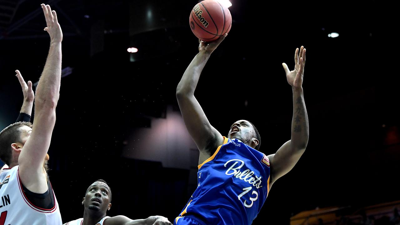Lamar Patterson of the Bullets in action against the Illawarra Hawks. Picture: Getty Images