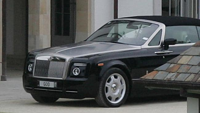 "The luxury car lover had his s 2008 Rolls-Royce Phantom convertible, with the numberplate ""God"", seized by police in 2012."