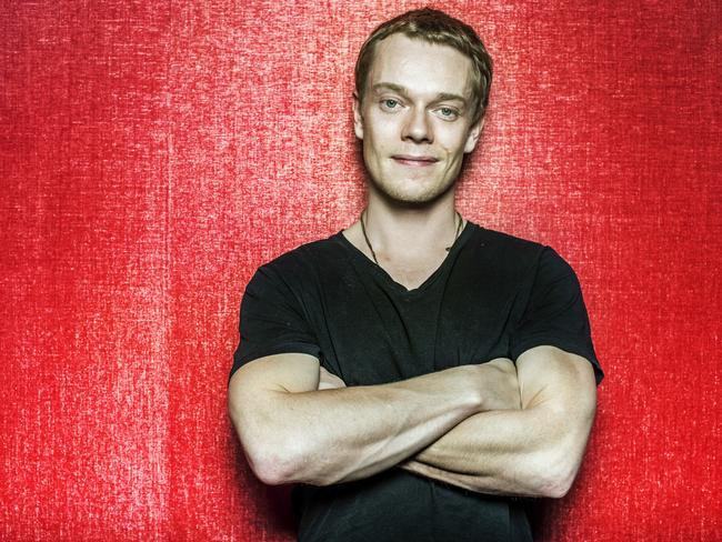 Alfie Allen, aka Theon Greyjoy, aka Reek, is in Melbourne to help launch the complete fifth season of Game of Thrones on DVD and Blu-ray. Picture: Sarah Matray