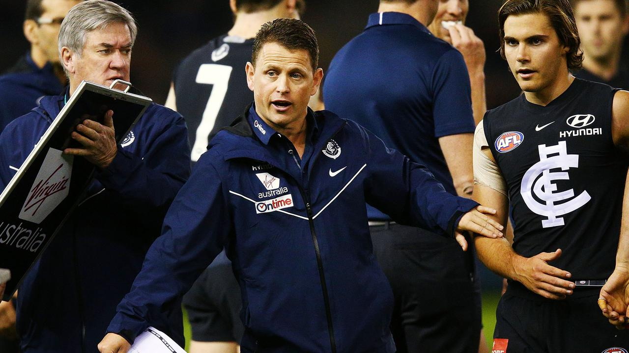 Carlton coach Brendon Bolton. (Photo by Michael Dodge/Getty Images)