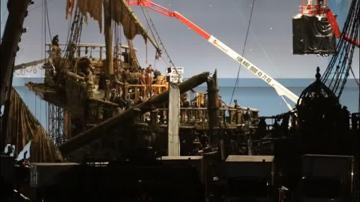 Behind-the-scenes at the Pirates of the Caribbean Gold Coast set