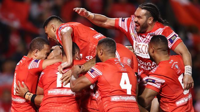 Can Tonga conquer the world champions? Photo by Brendon Thorne/Getty Images.