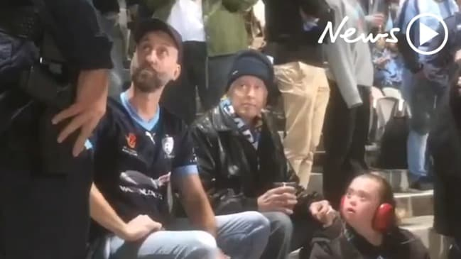 Man with disabled daughter escorted out of A-League match by police