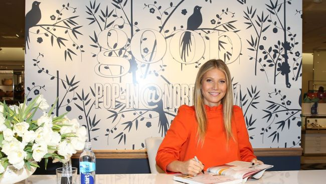 Gwyneth Paltrow attends book signing at Goop in Nordstrom, California. Image: Getty