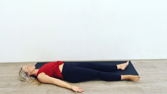 Corpse pose. Source: supplied