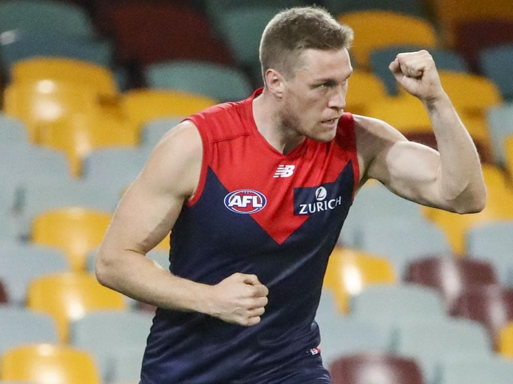 Tom McDonald was Melbourne's leading goalkicker in 2018. Picture: Glenn Hunt