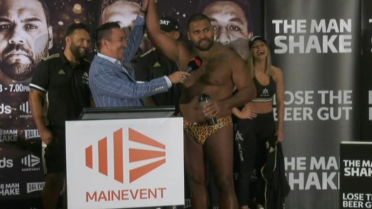 Sam Thaiday at the Fight Night weigh in.