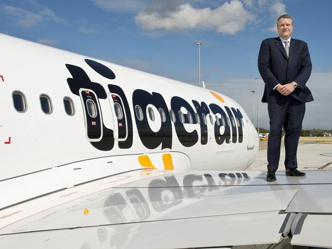 Take over ... Tigerair is set to be taken over by Virgin Australia which will maintain the brand and fly the low cost carrier on short haul international routes putting it in direct competition with Jetstar. Pic: James Morgan