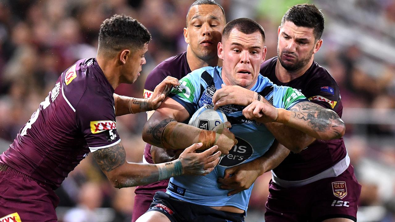 David Klemmer with 13 Origins for NSW is set to be replaced with rookie Daniel Saifiti.